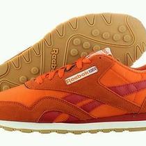 Reebok New Cl Nylon R13 V55241 Suede Retro Gum Sole Athletic Shoe Size 11 M  Photo