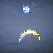 Reebok Nfl San Diego Chargers Football Team Lightning Bolt Logo Tshirt Size 3xl Photo