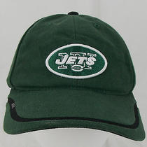 Reebok Onfield Ny Jets Nfl Velcro Closure Green Hat Football One Size Baseball Photo