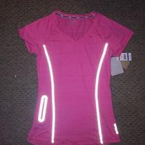Reebok Pink Fitness Top Size Xs Slim Fit Sport Shirt Photo