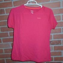 Reebok Play Dri Womans Pink Athletic Tshirt Size Small Photo