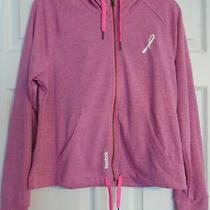 Reebok Playdry Avon Breast Cancer Awareness Pink Ribbon Zip Hoodie Woman's Small Photo