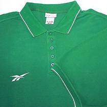 Reebok Polo Shirt Men 2xl Green Cotton Xxl Embroidered  Photo