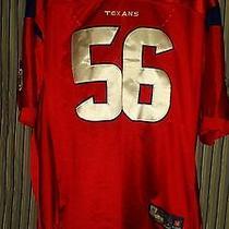 Reebok Premier  on Field Nfl Jersey Texans Brian Cushing Red Alternate Sz 54 Photo