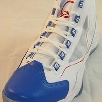Reebok Q96 Crossexamine White Blue Basketball Shoes (Men's 12) Photo