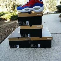 Reebok Question Mid Banner Size 9.5 11 11.5 12 Allen Iverson 76ers 1996 Pairs Photo