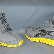 Reebok Realflex Run All-Purpose Sneakers Micro Suede Grey Yellow Boys Size 7 New Photo