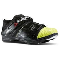 Reebok Studio Cycle Attack Women's Cycling Biking Shoes Black & Yellow Size 8.5 Photo