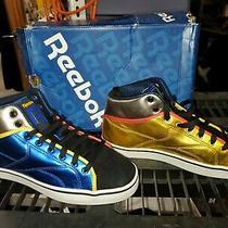 Reebok T-Raww Metallic Multi Color Sneakers Mens Size 7 Mid Photo