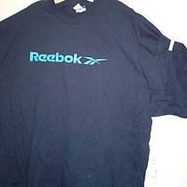 Reebok T-Shirt S/s Navyblue With Blue Reebok Xxl Nwt in Bag Photo