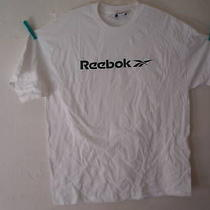 Reebok T-Shirt S/s White With Solid Green Reebok Size Xxl Nwt in Sealed Bag Photo