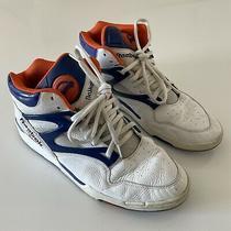 Reebok the Pump Limited Edition White Orange Blue Size 13 Basketball Shoes Photo