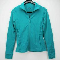Reebok Turquoise Full Zip Stretch Jacket Athletic Active Womens Size M Medium Photo