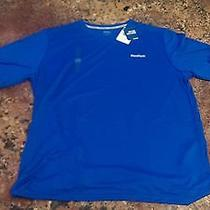 Reebok Vector Performance Playdry Training Shirt (Blue Men's Large) Photo