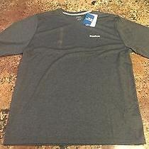 Reebok Vector Performance Playdry Training Shirt (Dark Heather Gray Mens Large) Photo