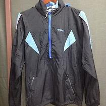 Reebok Vintage Black & Blue Jacket  Windbreaker Mens L 80's 90's-See Description Photo