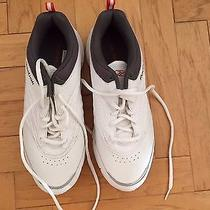 Reebok White Leather Sneakers Women's Size 8 W New Photo