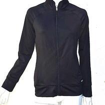 Reebok Woman's Track Jacket Windbreaker Black Athletic Small Coat Excellent Cond Photo