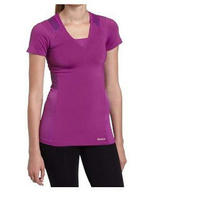 Reebok Women's Easytone Short Sleeve Top Primo Purple Small Photo