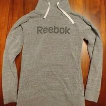 Reebok Women's Elements Logo Cowl Neck Gray Sweatshirt - Size S Photo