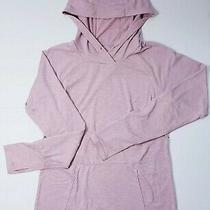 Reebok Women's Hoodie Sweatshirt Long Sleeve Running Heathered Pink Rose Photo