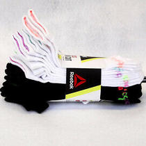 Reebok Women's Socks Low Cut 10 Pairs White/black Feather Weight Size 9-11 - New Photo