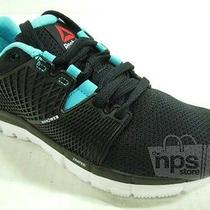 Reebok Women's Zquick Dash Running Shoes Size 10 Black Neon Blue White M48916 Photo