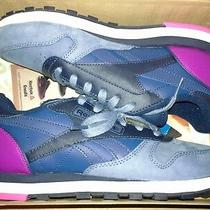 Reebok Womens Classic Leather Pm Sz 8 V66301 Blue/blue/indg/pink Photo