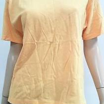 Reebok Womens L Short Sleeve Crew Neck Basic T-Shirt Tee Light Peach Chop 3t8pz1 Photo