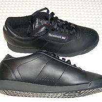 Reebok Womens Shoe Princess Black Classic Reebok Sneaker Walking Casual 7344 Photo