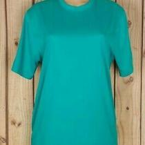 Reebok Womens Size Medium Short Sleeve Shirt Stretch Green Poly Athletic Top  Photo