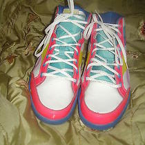 Reebok Womens Sz 7 Low High Tops Sneakers Bright Colors Pink Yellow Blue   Photo