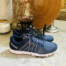 Reebok Yourflex Mens Navy Blue Crossfit Athletic Shoes Size 10.5 1y3501 716 Photo