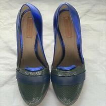 Reed Krakoff Blue Green Patent Leather Pump 37 Lanvin Celine Photo