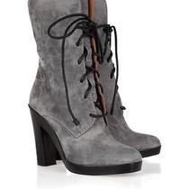 Reed Krakoff New Gray Suede Lace Up Boots Ret 895 Net a Porter Size 40 11-2252 Photo