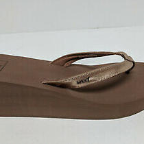 Reef Wedge Thong Sandals Rose Gold Women's 9 M Photo