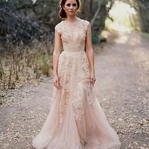 Reem Acra Blush Wedding Dress Unworn Vintage Photo