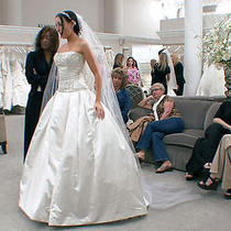 Reem Acra  Ivory Wedding Formal Dress Photo