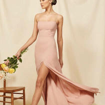 Reformation Ingrid Dress in Blush Sz 4 New Photo