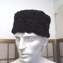 Refurbished Black Presian Lamb Fur Hat Men Custom Made Photo