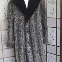 Refurbished Grey Persian Lamb & Black Mink Fur Coat Men Custom Photo