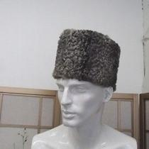 Refurbished Grey Presian Lamb Fur Hat Men Sz 22