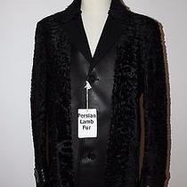 Refurbished New Black Persian Lamb Fur Coat/leather Collar Men Man/blazer/jacket Photo