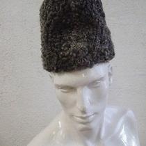 Refurbished New Gray Grey Persian Lamb Fur Hat Men Man Size 22