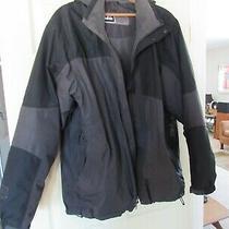 Rei Brand. Model E1 Elements. Mens Winter Jacket. Sz-Xl. Hood. Black/gray. Used Photo