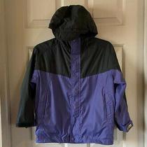 Rei E1 Elements Lightweight Jacket Purple and Gray Kids Size 6/7 Photo