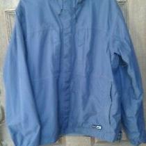 Rei E1 Elements Men's Navy Nylon Rain Coat Jacket With Hood - Size L Photo