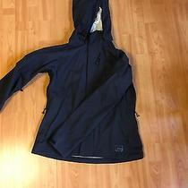 Rei E1 Elements Solid Black Hooded Waterproof Rain Jacket Windbreaker Size M.  Photo