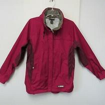 Rei E1 Elements Wind Rain Waterproof Jacket Raspberry Color Womans Large  Photo