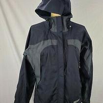 Rei E1 Elements Women's Black Gray Mesh Lined Lightweight Rain Jacket Sz S Photo